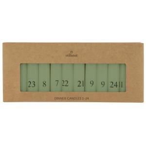 Świece Z Numerkami 1-24 Dusty Green Ib Laursen