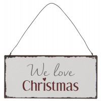 Metalowa Tabliczka We Love Christmas Ib Laursen