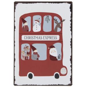 Metalowa Tabliczka Christmas Express Ib Laursen