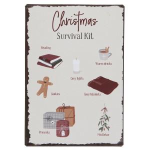Metalowa Tabliczka Christmas Survival Kit Ib Laursen