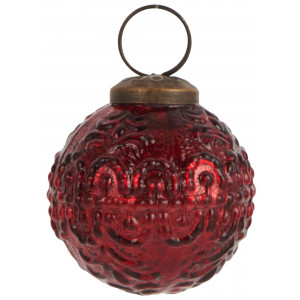 Bombka Ornament Wavy Red Ib Laursen