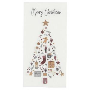 Papierowe Serwetki Merry Christmas w/Christmas Tree Ib Laursen