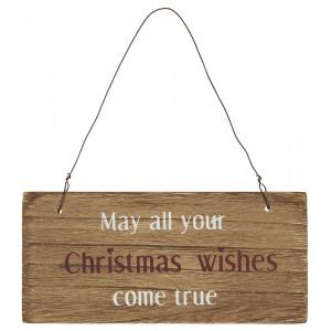 Drewniana Tabliczka May all your Christmas wishes come true Ib Laursen