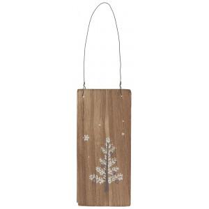 Drewniana Tabliczka White Christmas Tree Ib Laursen