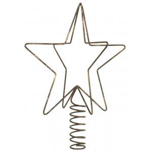 Metalowa Gwiazda Na Choinkę Antique Brass IB Laursen