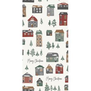 Papierowe Serwetki Merry Christmas and Christmas houses IB Laursen