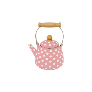Czajnik Emaliowany Pastel Pink Dots 1,5L Isabelle Rose