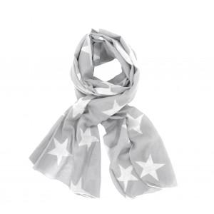 Szalik Grey White Stars Krasilnikoff