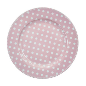 Talerz Obiadowy Dot Pink Krasilnikoff