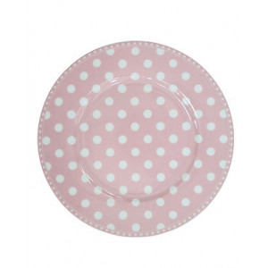 Talerz Deserowy Pink Dot Krasilnikoff