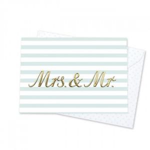Pocztówka Z Kopertą Mrs & Mr Krima&Isa