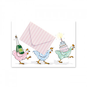 Pocztówka Chicks With Envelope