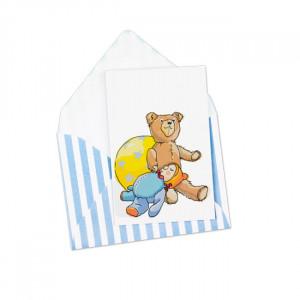 Mini Pocztówka Teddy With Envelope