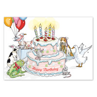 Pocztówka Birthday Cake