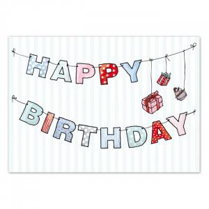Pocztówka Garland Birthday