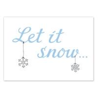 Pocztówka Let it Snow