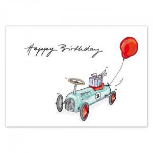 Pocztówka Birthday Car