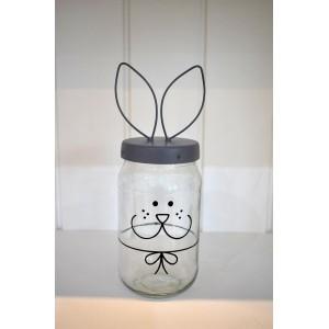 Szklany Pojemnik Bunny Face Jar Madleys