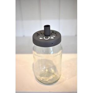 Szklany Pojemnik Jar With Flower Top Cynk Madleys