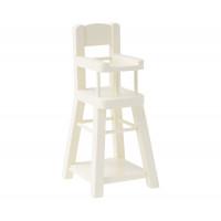 Krzesełko Wysokie Białe Micro NEW Maileg