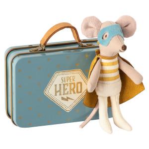 Myszka Super Hero Z Walizką 2020 Maileg