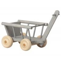 Drewniany Wagonik Wózek Mint/Grey Micro Maileg
