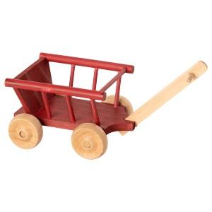 Drewniany Wagonik Wózek Dusty Red Maileg