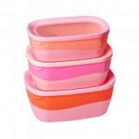 Miski Z Melaminy 3SZT Pastel Pink Rice