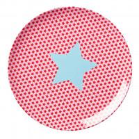 Talerz Z Melaminy Star Pink Rice